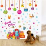 50x70cm Christmas Decoration Gifts Mural DIY Wallpaper Removable Wall Sticker Room Decal