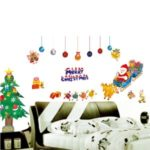 50x70cm Christmas Tree and Santa Claus Removable Wall Decor Sticker Art Decal Mural DIY Wallpaper
