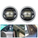 1 Pair 2″150W Micro Dome Car Audio Tweeters Speakers with Built-in Crossover