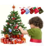 5PCS Xmas Hanging Stockings Christmas Tree Decoration to Put Presents & Candies Christmas Supply