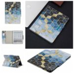 Pattern Printing Wide Clasp Stand Wallet Leather Tablet Case for Apple iPad 2/3/4 – Rhombus