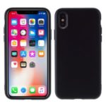 Detachable Side Buttons Cover Liquid Silicone Cell Phone Shell for iPhone XS/X – Black