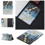 Pattern Printing Wide Clasp Stand Wallet Leather Tablet Casing for Samsung Galaxy Tab S6 T860 T865 – Rhombus