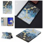 Pattern Printing Wide Clasp Stand Wallet Flip Leather Tablet Covering Case for Samsung Galaxy Tab S4 10.5 SM-T830 – Rhombus
