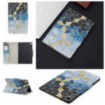 Pattern Printing Wide Clasp Stand Wallet Leather Tablet Cover for Samsung Galaxy Tab S5e SM-T720 – Rhombus Pattern