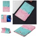 Pattern Printing Wide Clasp Leather Stand Wallet Tablet Protective Case for Samsung Galaxy Tab A 10.1 (2016) T580/T585 – Heart