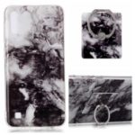 Marble Pattern IMD TPU Phone Casing + Finger Ring Kickstand for Samsung Galaxy M10/A10 – Style A