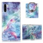 Marble Pattern IMD TPU Back Case + Finger Ring Kickstand for Samsung Galaxy Note 10/Note 10 5G – Style A