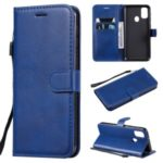 Cell Phone Leather Wallet Stand Case for Samsung Galaxy M30s – Blue