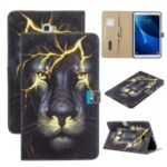 Pattern Printing PU Leather Flip Stand Tablet Case for Samsung Galaxy Tab A 10.1 (2016) T580 – Lion