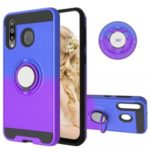 For Samsung Galaxy M30/A40s Gradient Color PC+TPU Shell – Blue/Purple
