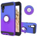 For Samsung Galaxy A2 Core Gradient Color 2 in 1 360 Degree Ring Kickstand Covering – Blue/Purple