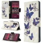 Pattern Printing Light Spot Decor Leather Wallet Case for Sony Xperia 5/XZ5 – Beautiful Butterfly