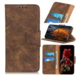 Retro PU Leather Wallet Shell Cover for LG K40S – Coffee