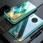 Dual Side Magnetic Metal Frame + Tempered Glass Phone Cover for Huawei Mate 30 – Green