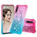 Gradient Glitter Powder Quicksand TPU Case for Huawei Honor 9X Pro / 9X (For China) – Rose / Baby Blue