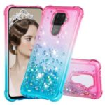 Gradient Glitter Powder Quicksand TPU Phone Case for Huawei Mate 30 Lite/nova 5i Pro – Rose / Baby Blue