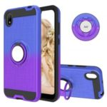 Finger Ring Kickstand Gradient Color Detachable TPU + PC Cover Case for Huawei Y5 (2019) / Honor 8S – Blue/Purple