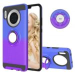 For Huawei Mate 30 Gradient Color 2 in 1 360 Degree Ring Kickstand Cool Covering Case – Blue/Purple
