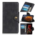 Leather Wallet 3-Card Holder Phone Case for Motorola Moto G8 Play/One Macro – Black