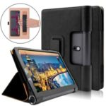 Business Style Flip Leather Stand Tablet Shell with Card Slots for Lenovo Yoga Smart Tab 10.1 – Black