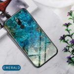 Marble Texture Tempered Glass + PC + TPU Hybrid Case for Xiaomi Redmi 8 – Emerald