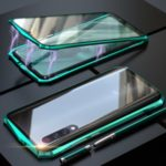 Bat Style Magnetic Installation Metal Frame + Tempered Glass Phone Shell for Xiaomi Mi 9 Pro 5G – Green