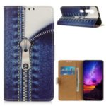 Pattern Printing Wallet Stand Leather Phone Case for Xiaomi Mi Note 10/CC9 Pro – Zipper