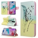 Pattern Printing Wallet Flip Leather Phone Case for Xiaomi Redmi 8 – Feather