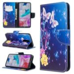 Pattern Printing Wallet Stand Leather Phone Cover Casing for Xiaomi Redmi 8 – Beautiful Butterflies