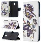 Pattern Printing Magnetic Leather Stand Case for Xiaomi Redmi 8A – Butterfly Pattern