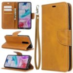 PU Leather Wallet Stand Shell Case for Xiaomi Redmi 8 – Light Brown