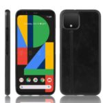 Leather Coated PC + TPU Hybrid Shell for Google Pixel 4 – Black