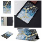 Pattern Printing Wide Clasp Stand Wallet Leather Tablet Case for Amazon Fire HD 10 (2015)/(2017) – Rhombus Pattern