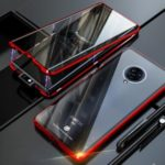 Full Covering Magnetic Metal Frame + [Front and Back] Tempered Glass Phone Case for Vivo NEX 3 5G- Red