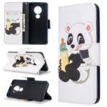 Pattern Printing Leather Wallet Stand Phone Cover for Nokia 7.2 / Nokia 6.2 – Little Panda