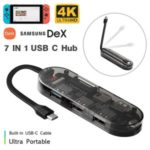 7-in-1 Type C Hub Adapter with HDMI 4K USB SD/TF Card Reader PD Charging Ports