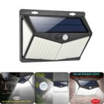 208-LED Four Sides Solar Outdoor Human Body Induction Courtyard Wall Street Lamp