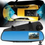 3.5-inch Front 1080P Back 720P HD Dual Lens Car Rearview Mirror Camera Dash Cam DVR V39A