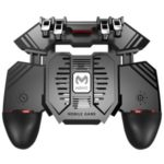 AK77 Six Finger All in One Mobile Game Controller with Dual Fans Free Fire Key Radiator