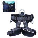 Rock Climbing Seat Harness Falling Protection Safety Belt Rappelling Escalade Equipment – Black