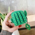 Cactus Shape Silicone Earphones Case with Strap for Apple AirPods Pro – Type A
