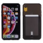 Drop-proof TPU Back Case Cover with Card Holder for iPhone XR 6.1-inch – Black