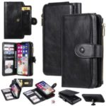 Multi-functional Retro Leather Wallet Case for iPhone XS/X 5.8 inch – Black