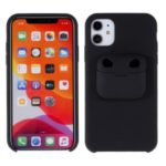 Shockproof Silicone Cell Phone Cover with AirPods Case for iPhone 11 6.1-inch/AirPods Pro – Black