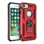 Hybrid PC TPU Kickstand Armor Style Phone Cover for iPhone 6/7/8 4.7 inch – Red
