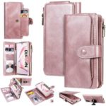 Multi-functional Retro Leather Phone Case for Samsung Galaxy Note 10/Note 10 5G – Rose Gold