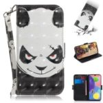 Light Spot Decor Pattern Printing Wallet Leather Phone Cover for Samsung Galaxy A70s – Panda