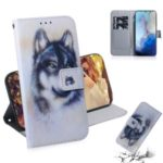 Pattern Printing PU Leather Wallet Phone Casing for Samsung Galaxy S11e – Wolf
