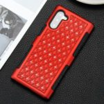 Bling Rhinestone Decor Plastic+TPU Phone Cover Case for Samsung Galaxy Note 10 / Note 10 5G – Red